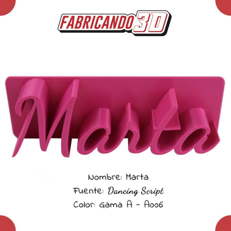 Marta - 90 - Dancing Script - Entrada
