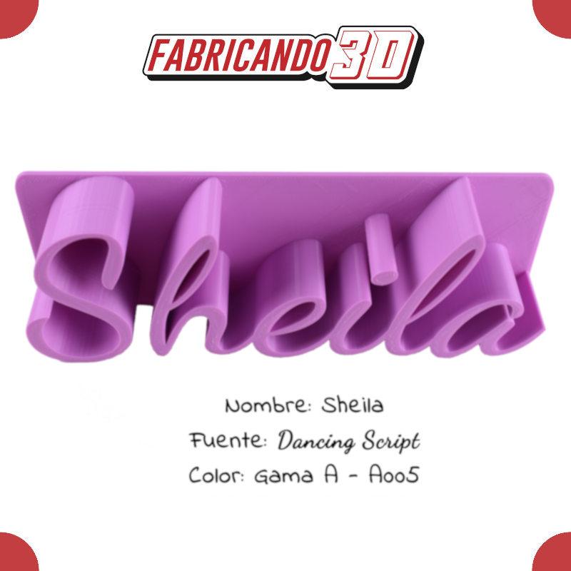 Sheila - 90 - Dancing Script - Entrada