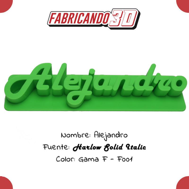 Alejandro -30 - Harlow Solid Italic - Tienda