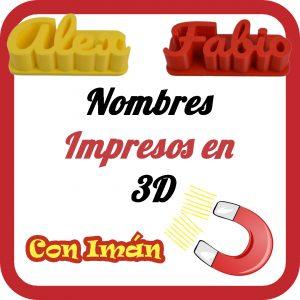 Nombres 3D con Imán